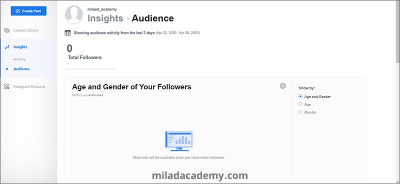 آمار اینستاگرام در creator studio