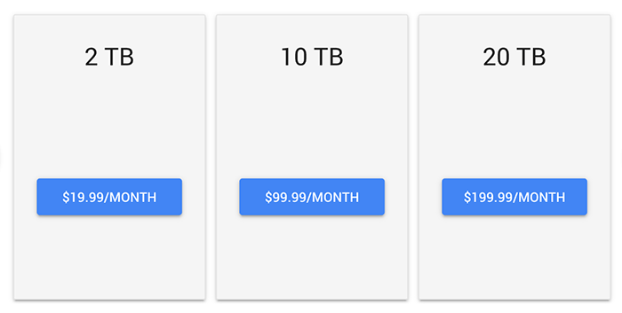 قیمت google drive